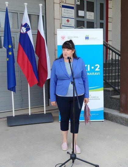 Predsednica sveta Krajevne skupnosti Britof Martina Pustotnik