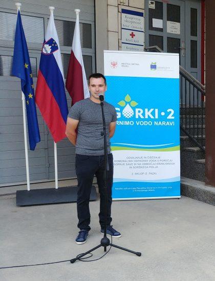 Predsednik sveta Krajevne skupnosti Predoslje Gašper Žbogar